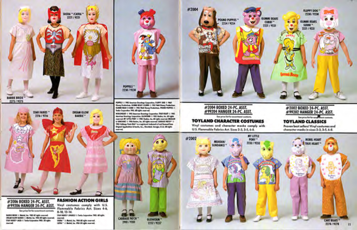 I skipped classes in college to watch Gummi Bears.  sc 1 st  Plaid Stallions & 1986 Ben Cooper Catalog : Masters of the Universe : Halloween Costumes