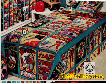 Golden Age Superhero bedsheets