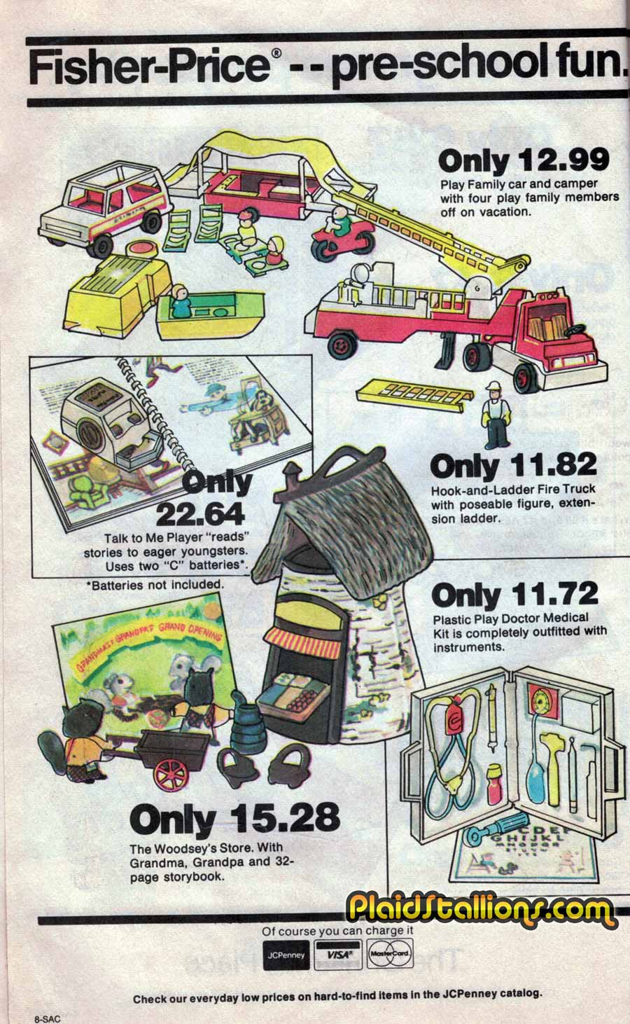 1980 JC Penny Toy Flyer: Barbie : Kenner Star Wars