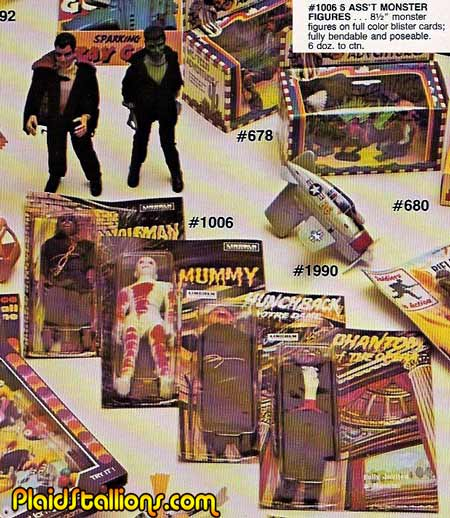 Lincoln Monsters in the 1976 Galoob Catalog