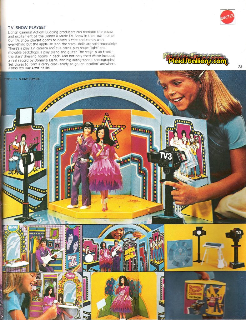 1977 Mattel Donny and Marie Osmond Playset