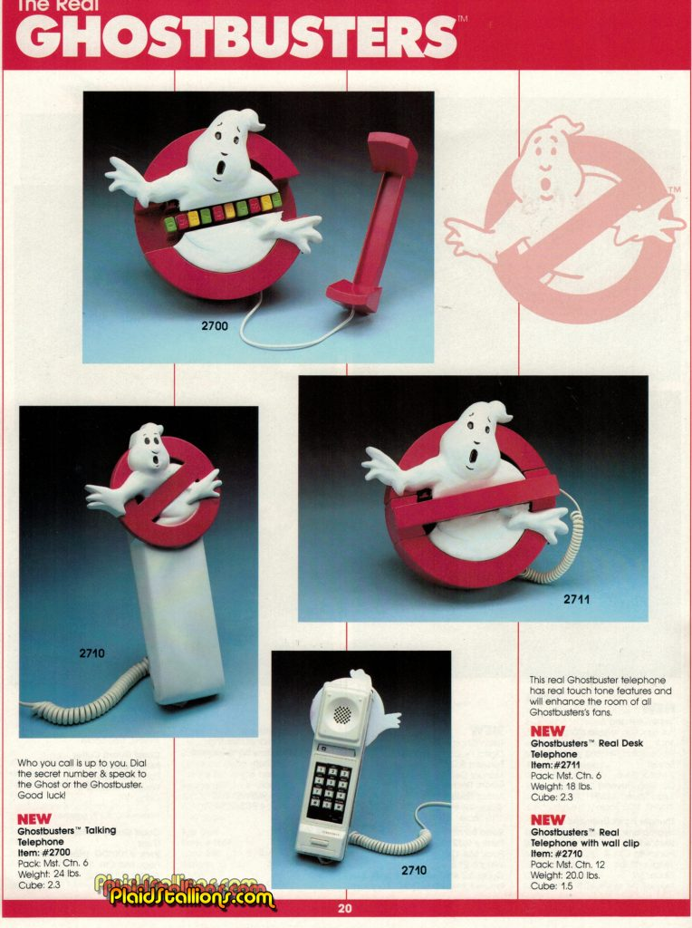 1987 Remco Toys Catalog Real Ghostbusters