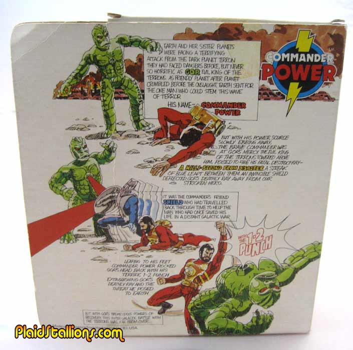 Palitoy Commander Power back of box
