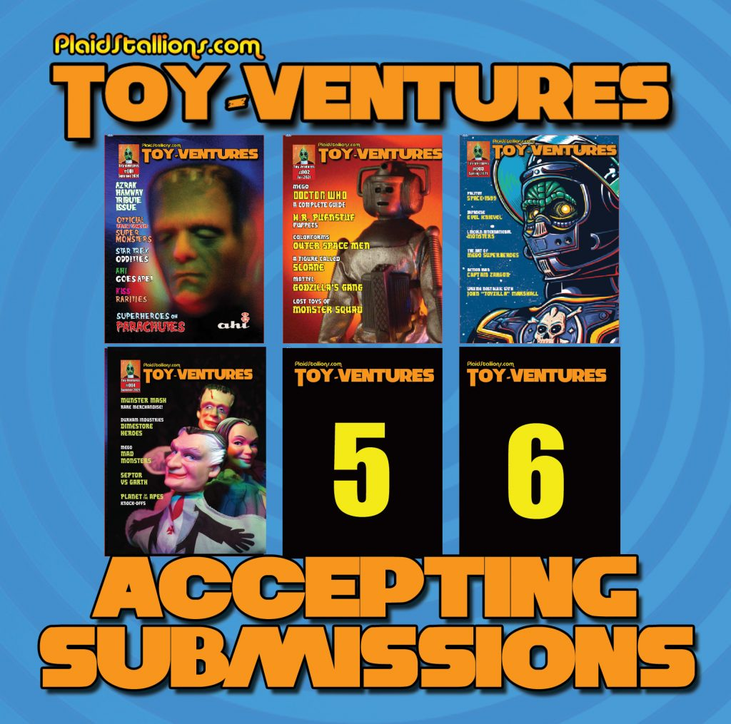 Toy-Ventures Magazine is seeking submissions
