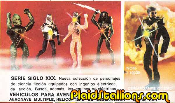 """In Mexico, the line was called """"Siglo XXX"""" (century XXX?) and was marketed alongside 12"""" Joe which was also still available by Ledy (everybody but the US had 12"""" Joes it seems), the packaging featured the same art as the US but the dolls were sold in beautiful window boxes."""