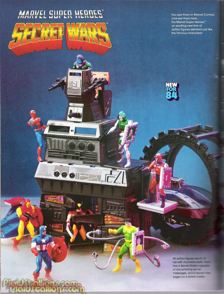Mattel put a lot into play sets and vehicles for the Secret Wars characters.