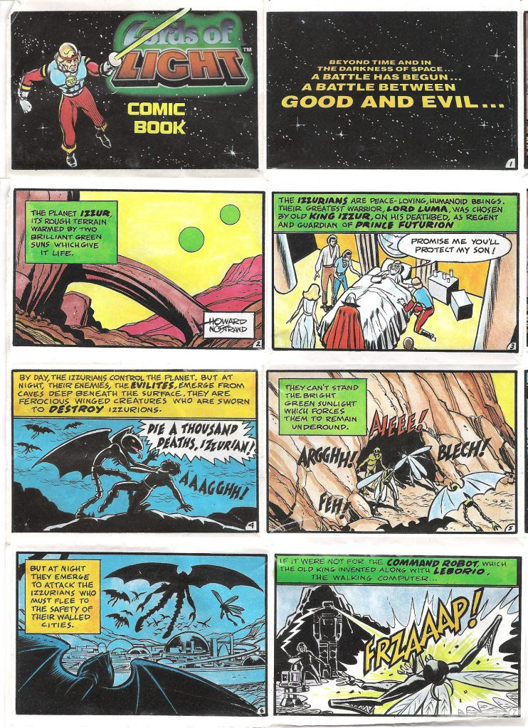 Pac Toys Lords of Light Promo Comic Book