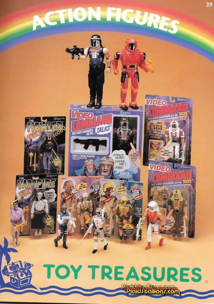 Toy Island Monsters in the 1995 Catalog