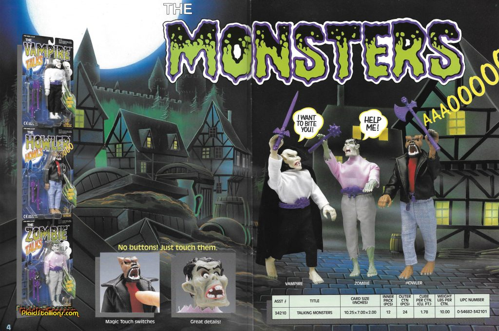 Toy Island Monsters 1993 Catalog