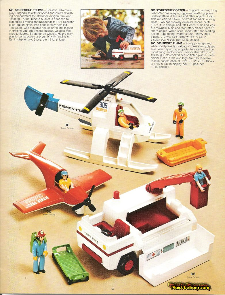 1975 Fisher-Price Catalog Adventure People Helicopter