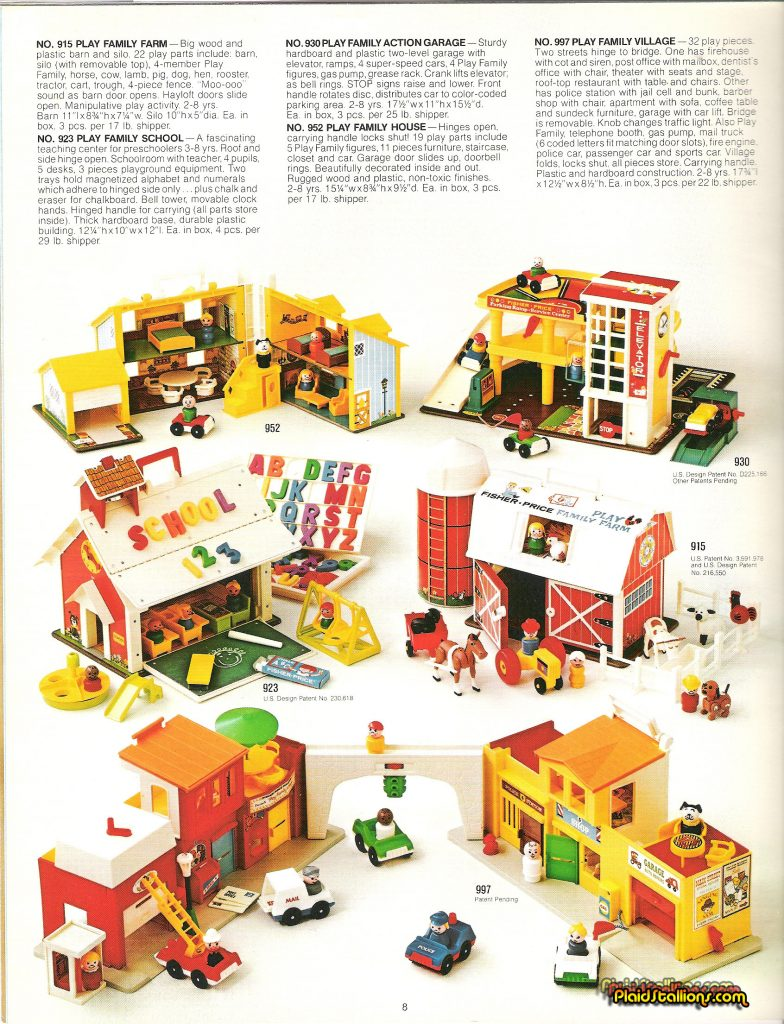 1975 Fisher-Price Catalog Little People castle