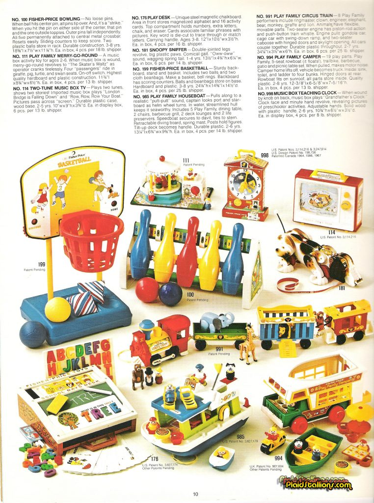 1975 Fisher-Price Catalog Little People train