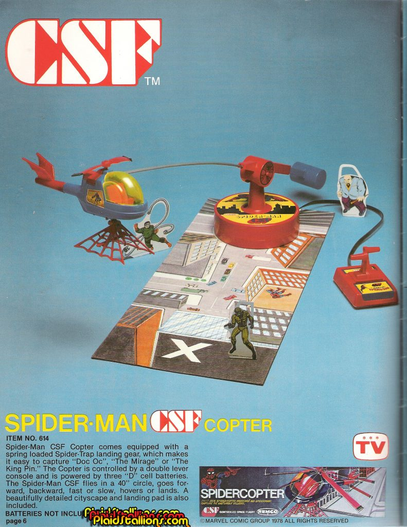 Remco Toys Catalog 1978- Spidercopter