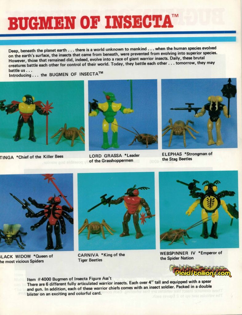 1984 Multiple Toys BugMen of Insecta Catalog